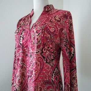 International concepts Inc. Paisley top